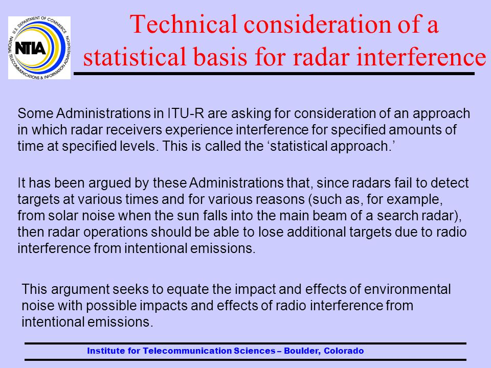 Radar receiver performance in the presence of interference Example of ppi screen display effects of high-level interference (such as dramatized in movie portrayals).