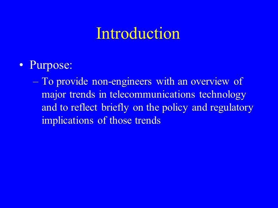 Outline The Digital Revolution The Race for Broadband The Wireless Revolution The Role of the Internet, the Internet Protocols and Intelligence at the Edge Convergence and Its Implications