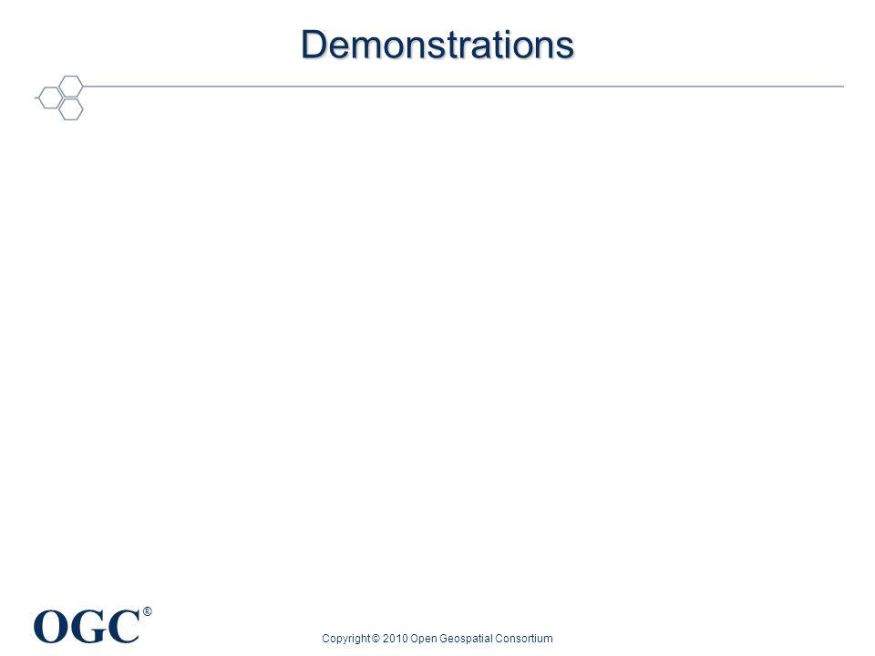 OGC ® Demonstrations Copyright © 2010 Open Geospatial Consortium