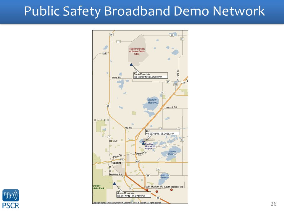 26 Public Safety Broadband Demo Network