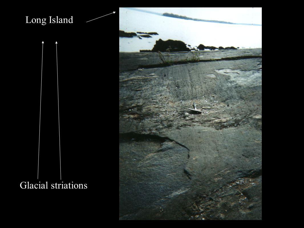 Long Island Glacial striations