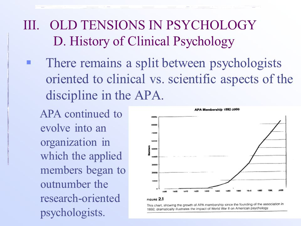 III.OLD TENSIONS IN PSYCHOLOGY D.