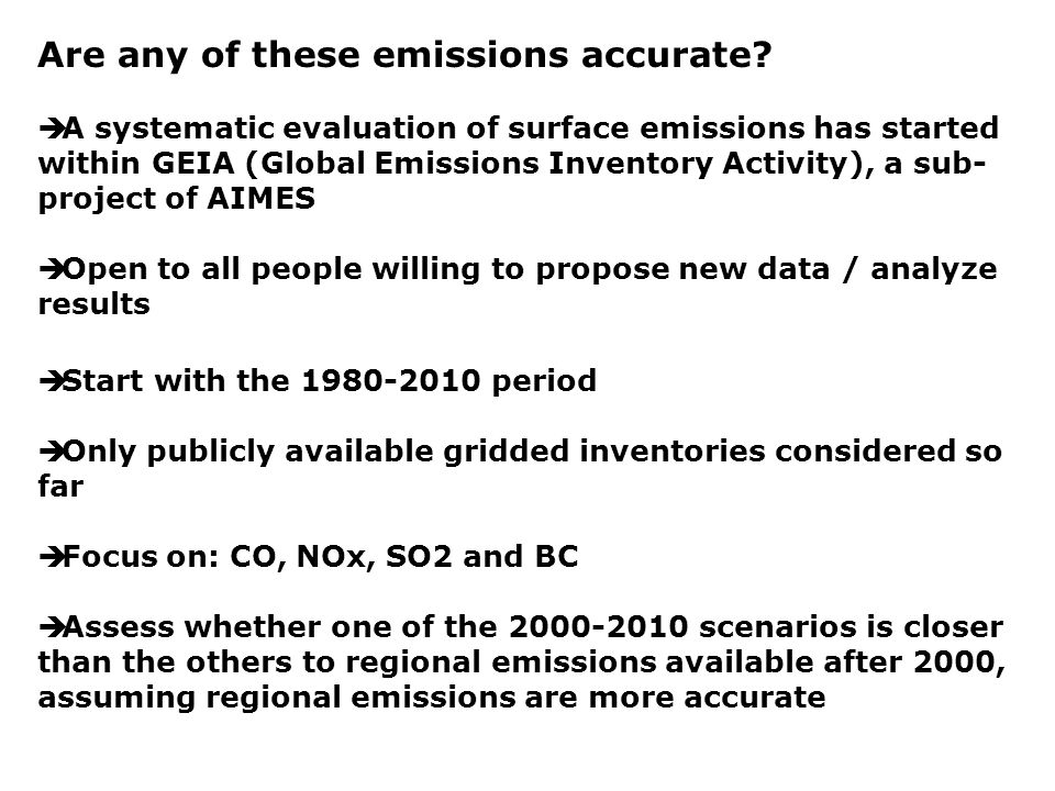 Are any of these emissions accurate.