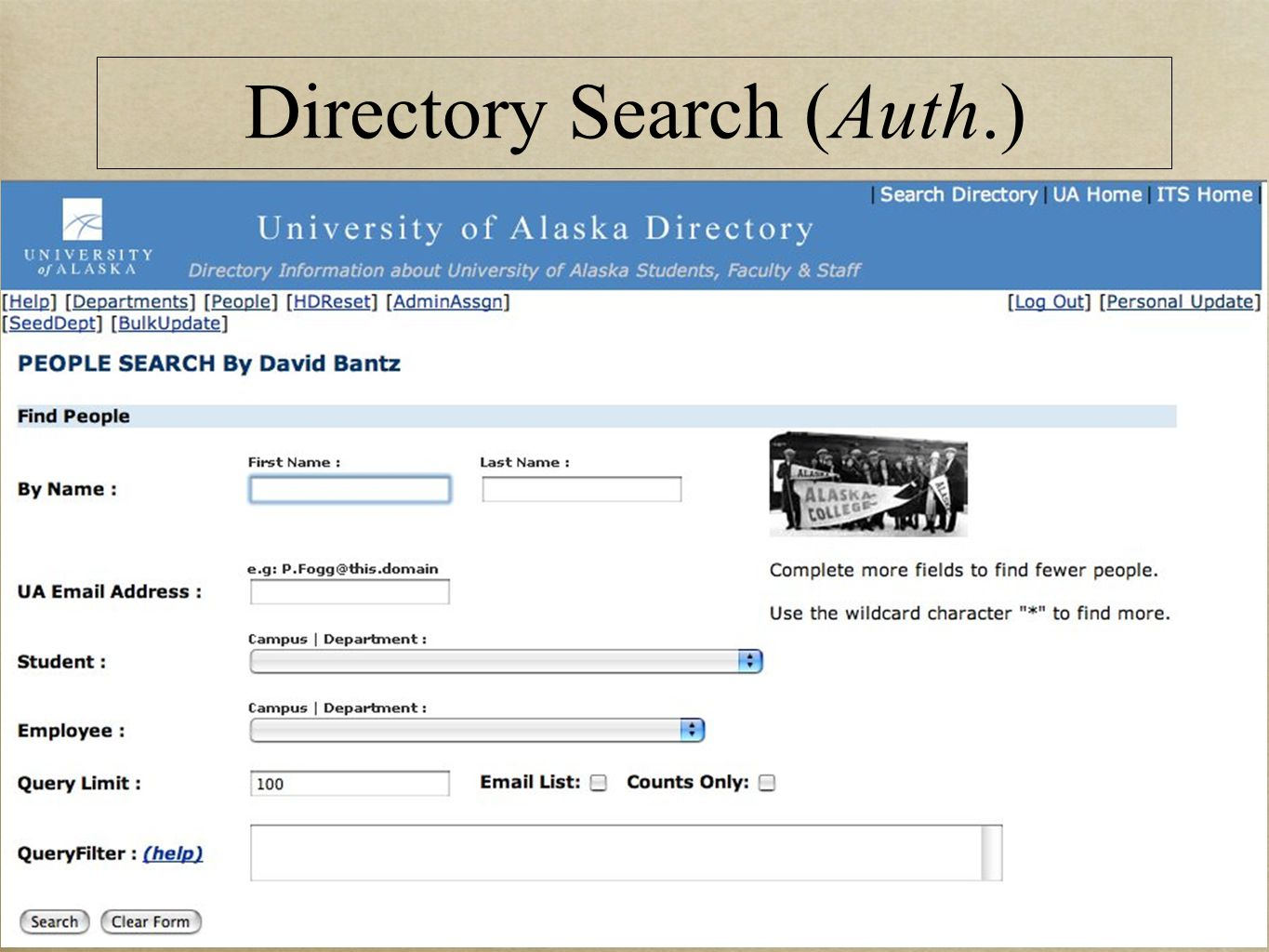Directory Search (Auth.)