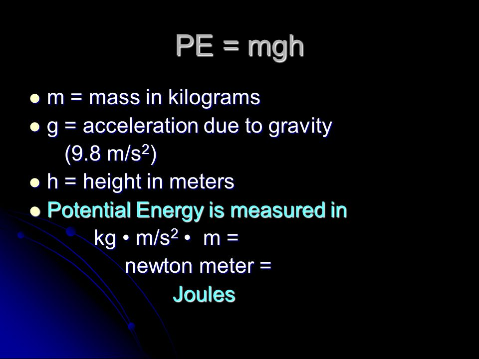 Energy can be classified as potential or kinetic Potential energy: energy of position Potential energy: energy of position The boulder has more gravitational potential energy when measured from point A compared to B.