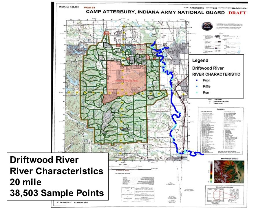 Driftwood River River Characteristics 20 mile 38,503 Sample Points
