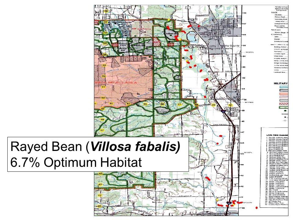 Rayed Bean (Villosa fabalis) 6.7% Optimum Habitat