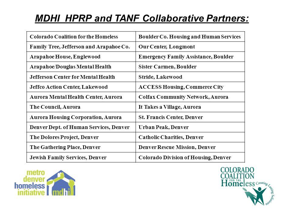 Colorado Coalition for the HomelessBoulder Co.