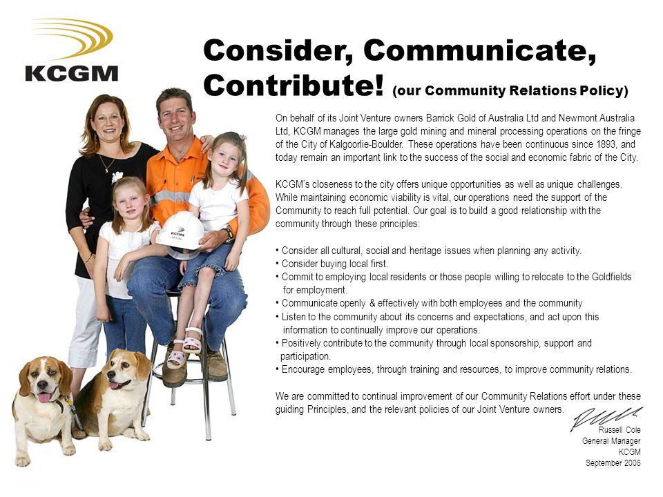 Consider, Communicate, Contribute.
