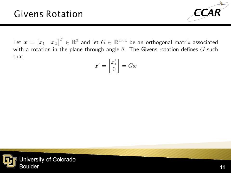 University of Colorado Boulder 11