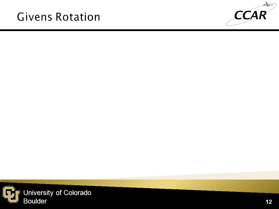 University of Colorado Boulder 12