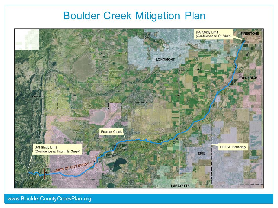 www.BoulderCountyCreekPlan.org Boulder Creek Mitigation Plan