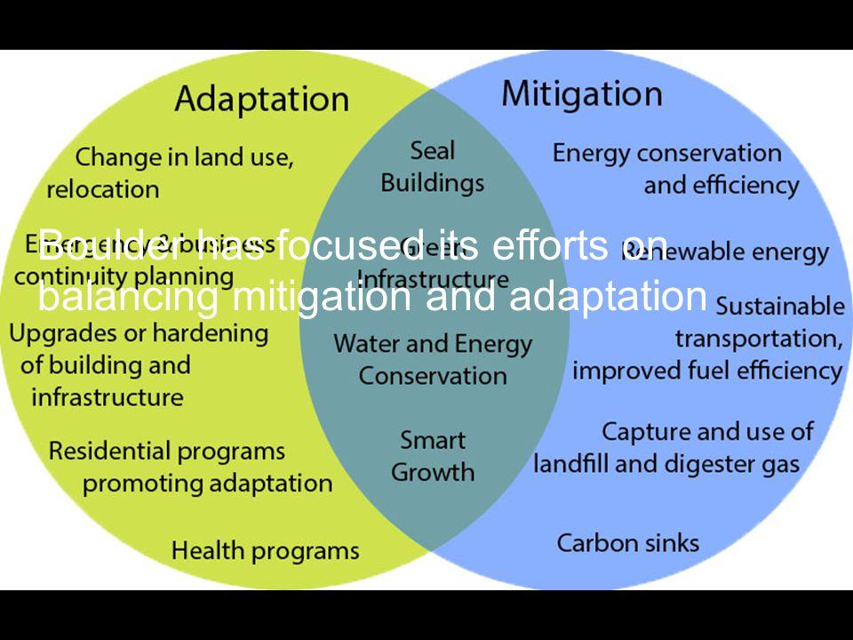 Boulder has focused its efforts on balancing mitigation and adaptation