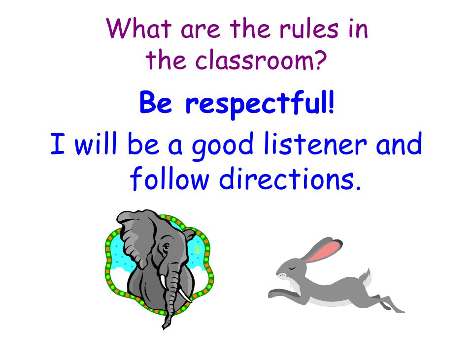 What are the rules in the classroom.I will always try my best.