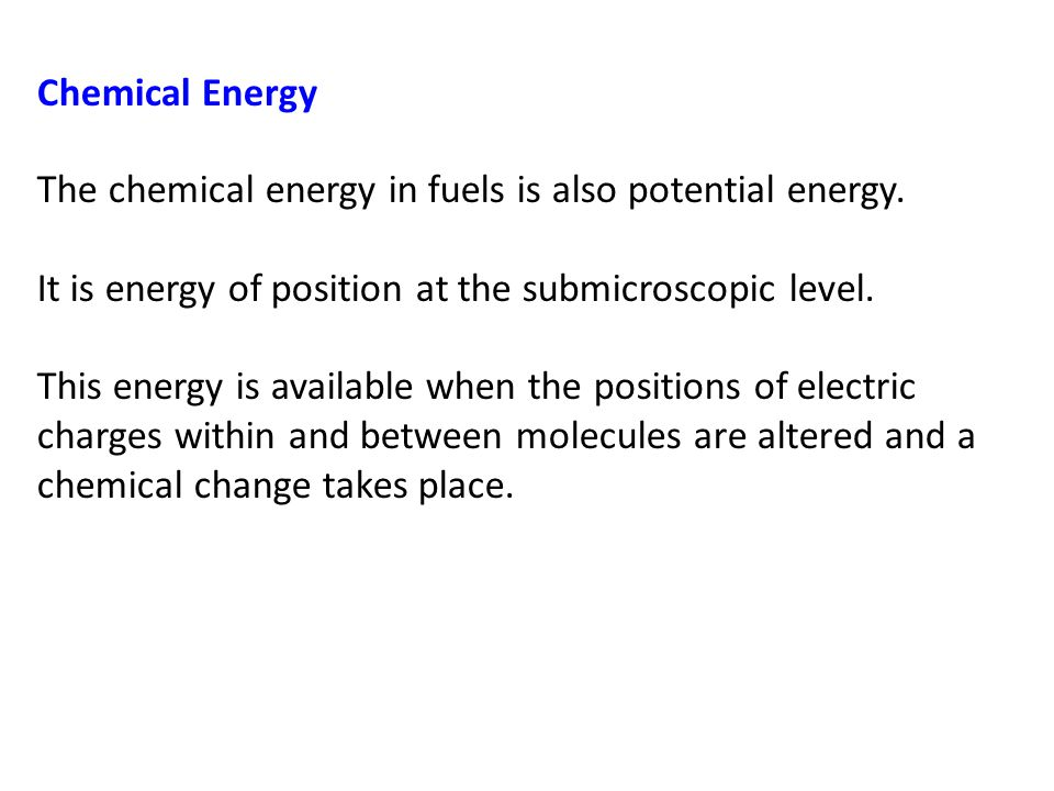 Gravitational Potential Energy Work is required to elevate objects against Earth's gravity.