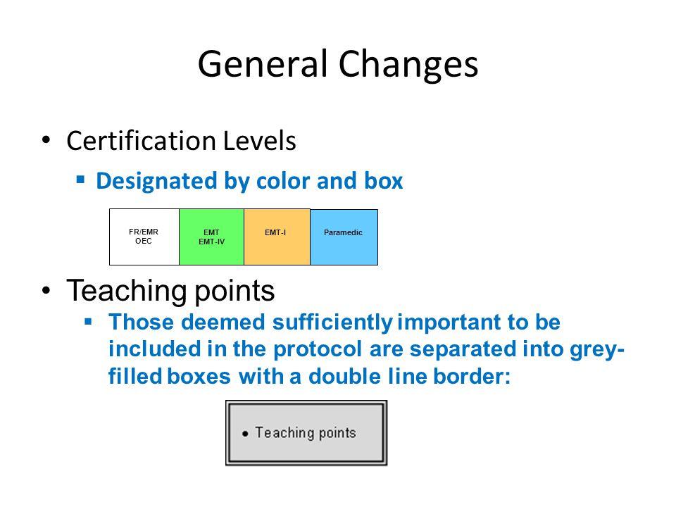 General Changes Alogrithmic Format