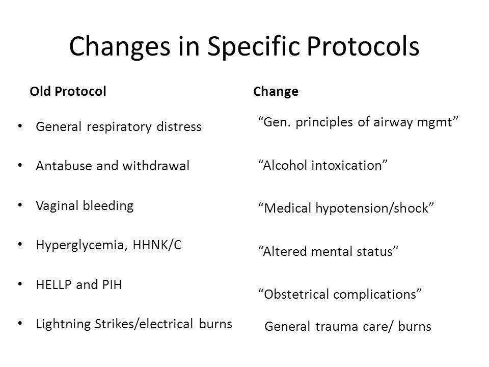 New Protocols 4061 – Adrenal Insufficiency 5002 – General Trauma Care 5040 – Face and Neck Trauma 6025 – Neonatal Resusciation