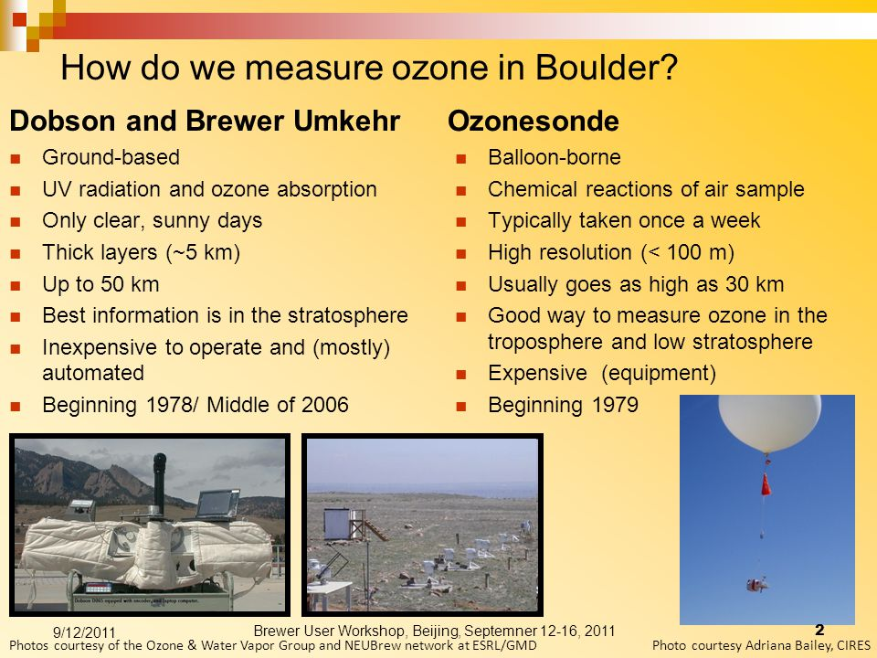 How do we measure ozone in Boulder.