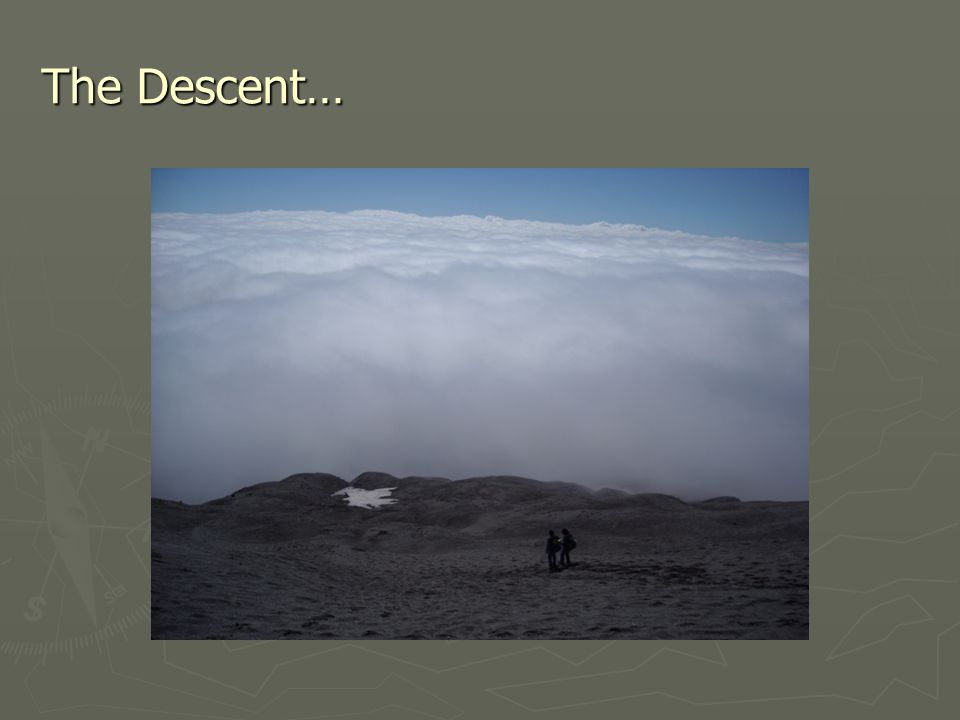The Descent…