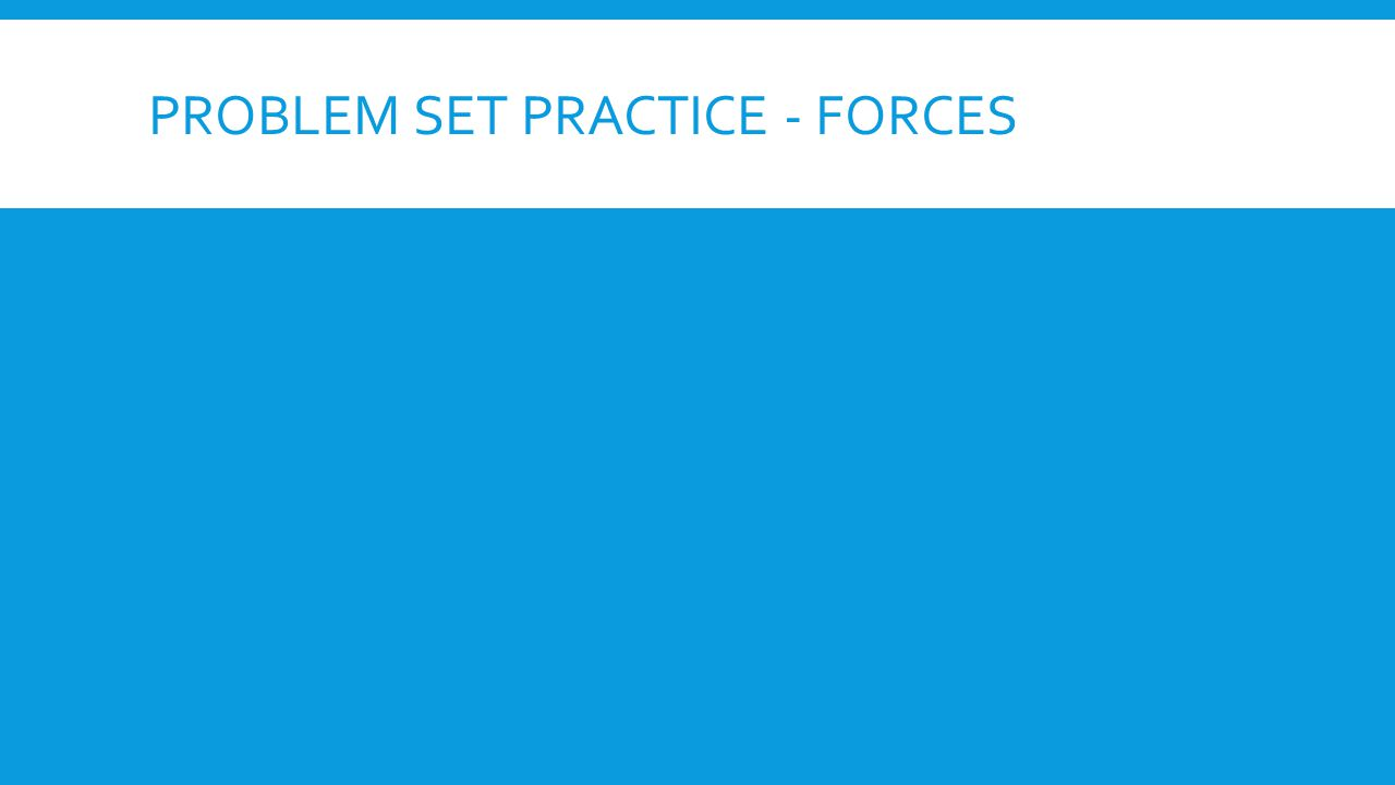 PROBLEM SET PRACTICE - FORCES