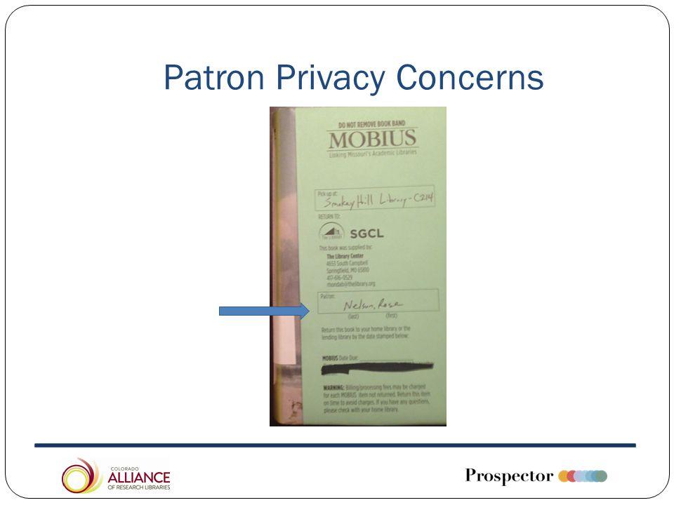 Patron Privacy Concerns