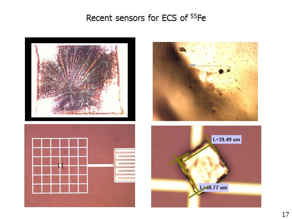 17 Recent sensors for ECS of 55 Fe