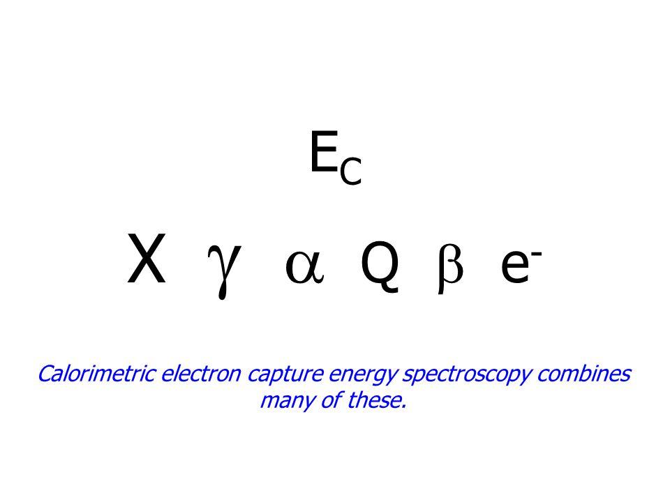 ECEC Calorimetric electron capture energy spectroscopy combines many of these.