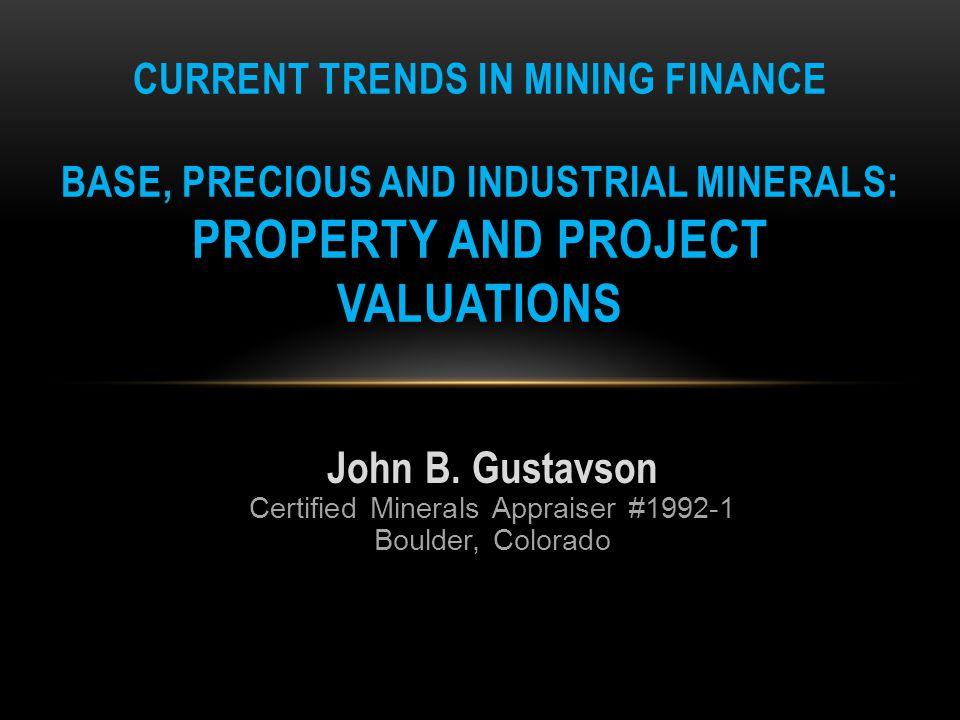 About the Panelist: John B.Gustavson, MS Geology, MS Chem.