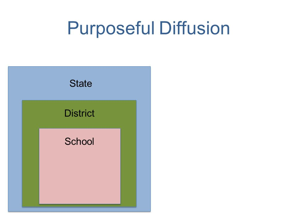 Purposeful Diffusion School District State