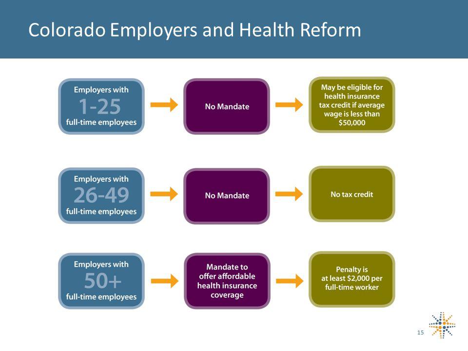 15 Colorado Employers and Health Reform