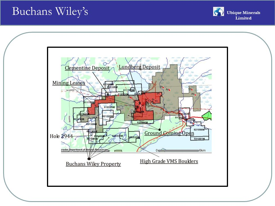 Buchans Wiley's Ubique Minerals Limited