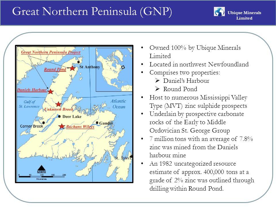 GNP Geological Map Index Ubique Minerals Limited