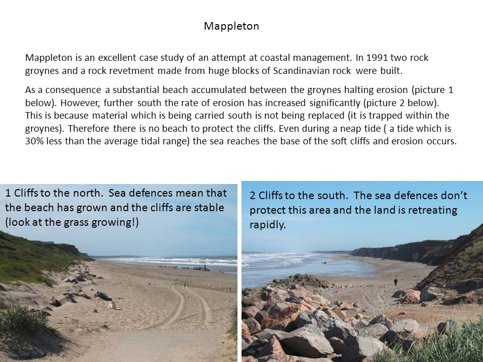 Mappleton Mappleton is an excellent case study of an attempt at coastal management.