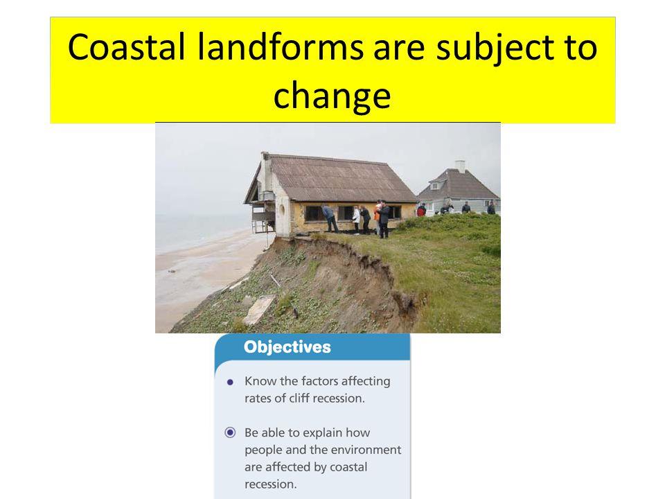 Coastal landforms are subject to change