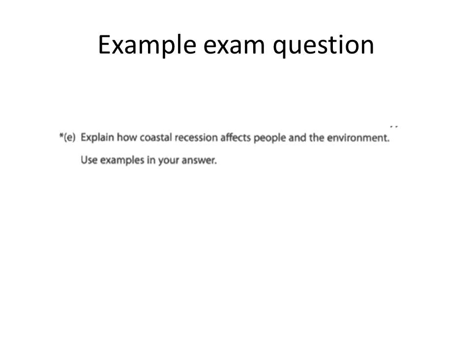 Example exam question