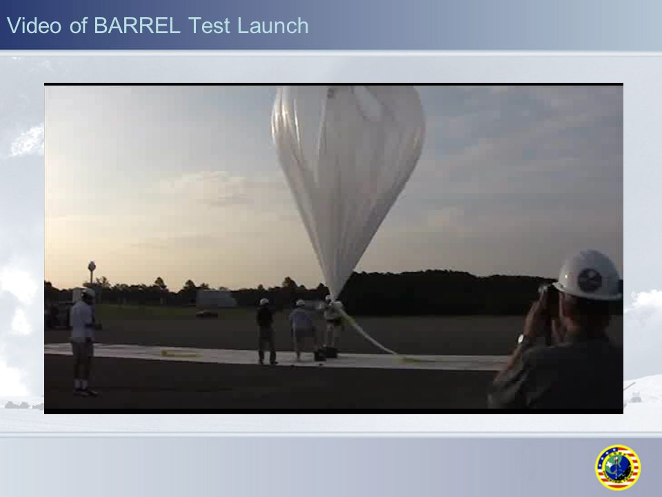 Video of BARREL Test Launch