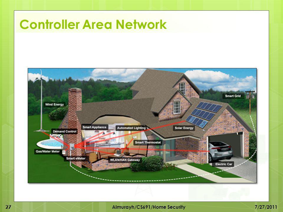 Controller Area Network 27 Almurayh/CS691/Home Security 7/27/2011