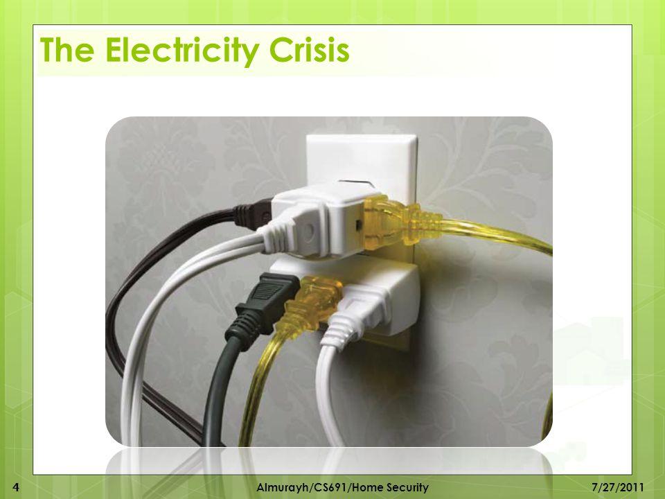 The Electricity Crisis 4 Almurayh/CS691/Home Security 7/27/2011