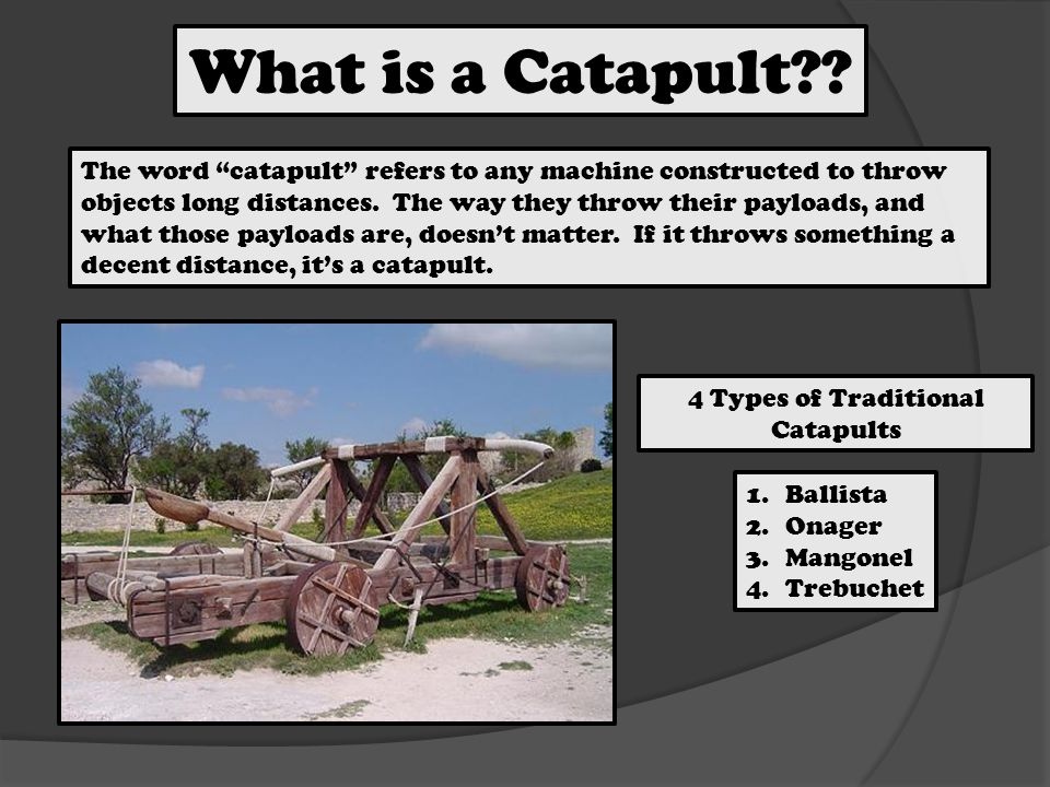Who Built These.Where. Ballista = Invented by the Greeks as early as the 4th century BC.