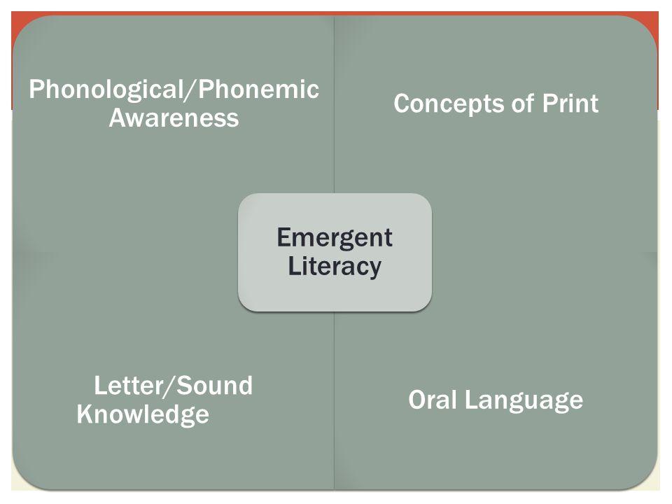 Phonological Awareness Word Awareness RhymingAlliterationSyllablesAssonance Phonemic Awareness Onset and rhyme Blending Segmenting Manipulating phonemes