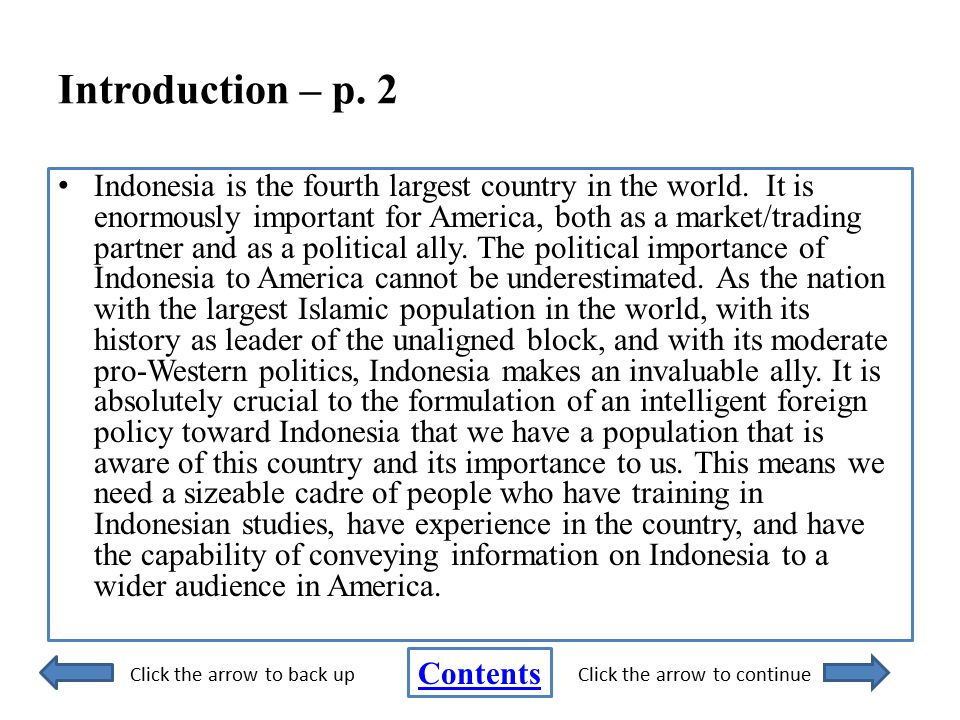 Introduction – p. 2 Indonesia is the fourth largest country in the world.