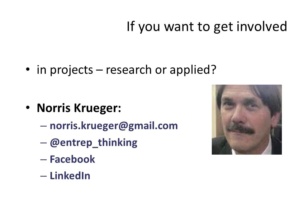 If you want to get involved in projects – research or applied.