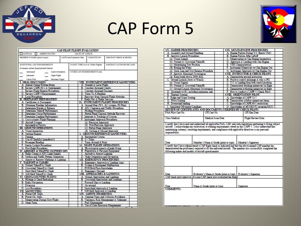 CAP Form 5