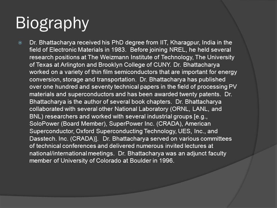 Biography  Dr.
