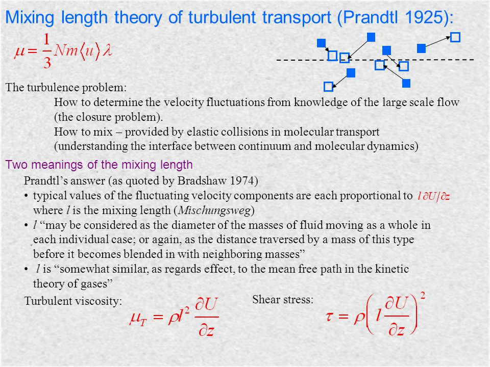 The turbulence problem: How to determine the velocity fluctuations from knowledge of the large scale flow (the closure problem). How to mix – provided