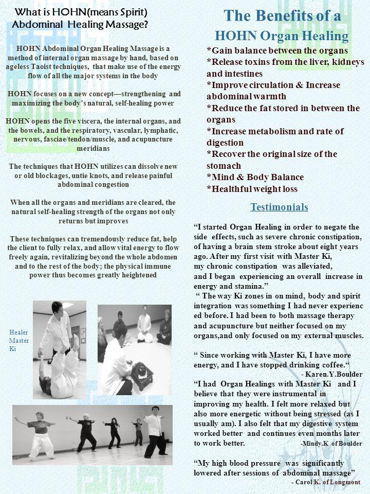 What is HOHN(means Spirit) Abdominal Healing Massage.