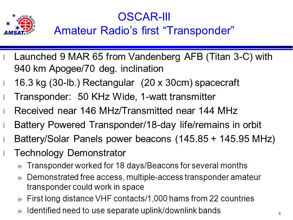 46 Phase 3-D Orbit Orbit: High Molynia 29,000 Miles x 2400 Miles/Orbital Period 16 Hours