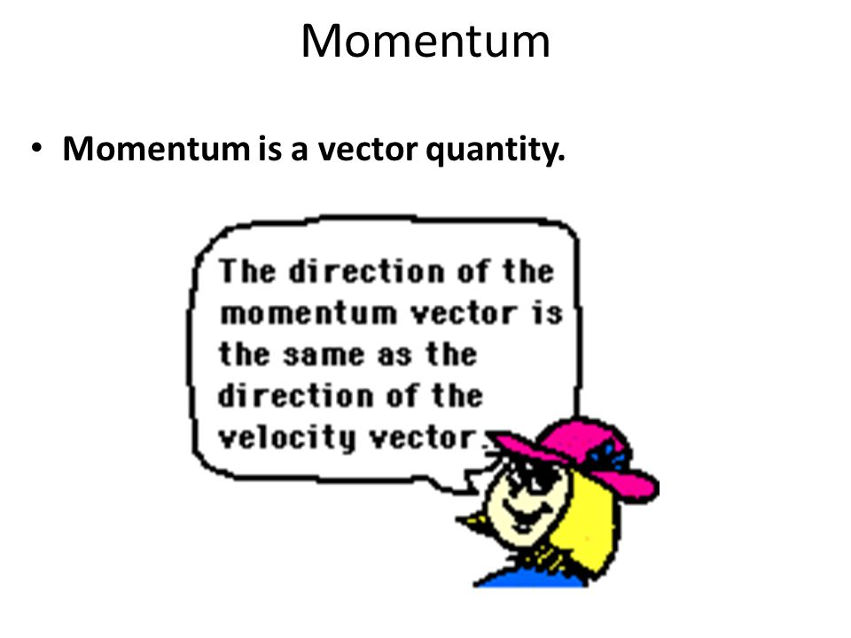 Momentum Momentum is a vector quantity.