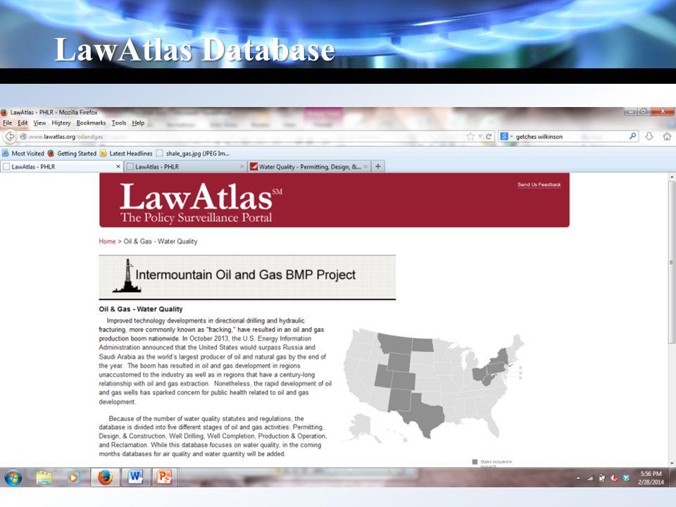 LawAtlas Database