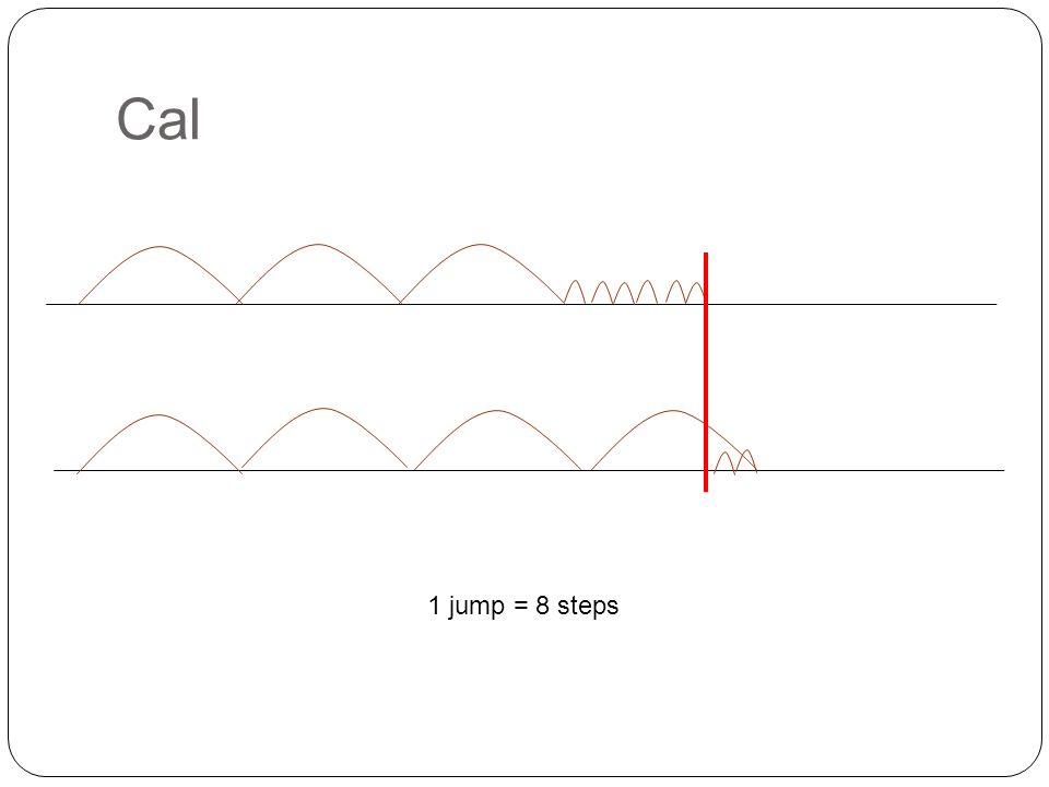 Cal 1 jump = 8 steps